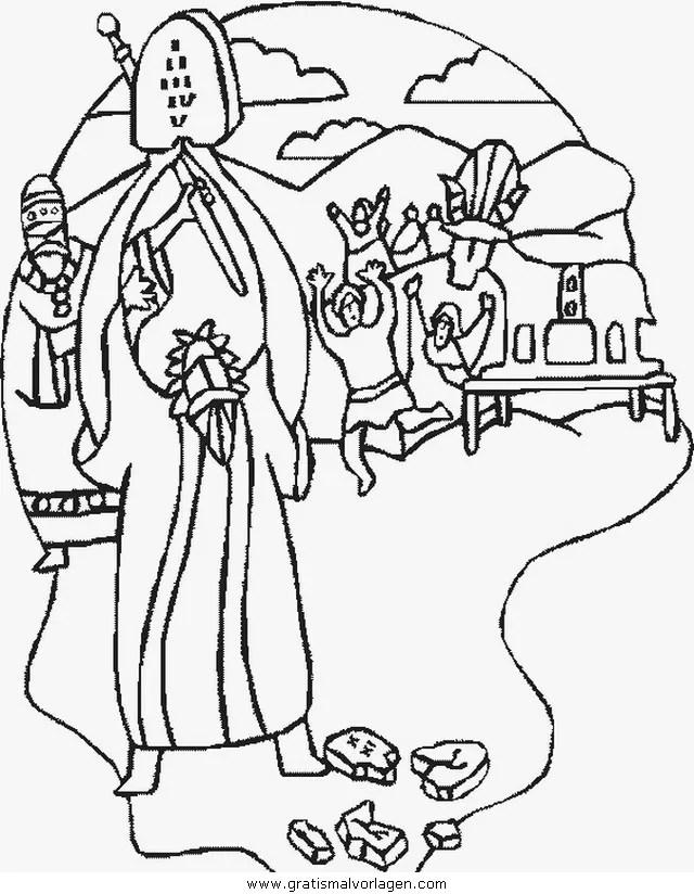 Moses Gebote 009 Gratis Malvorlage In Moses Religionen