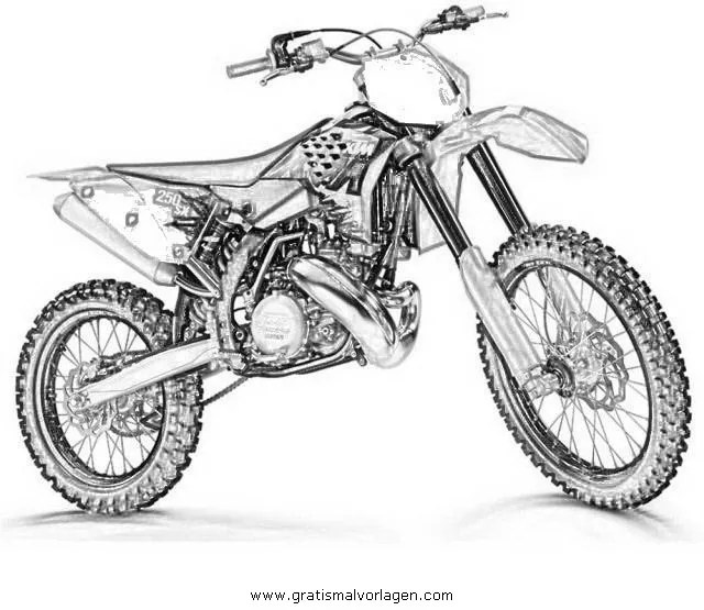 motorcross 1 gratis Malvorlage in Motorrad