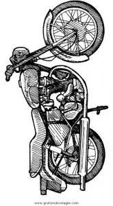 Motorrad 21 gratis Malvorlage in Motorrad Transportmittel