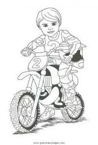 Motorrad 26 gratis Malvorlage in Motorrad Transportmittel