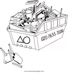 Malvorlagen Müllabfuhr Coloring and Malvorlagan