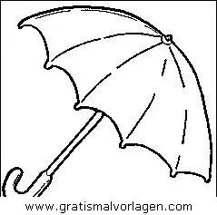 Regenschirm 5 gratis Malvorlage in Diverse Malvorlagen
