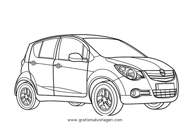 Ausmalbilder Opel Corsa In Transportmittel Malvorlagen