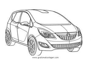 opel meriva gratis Malvorlage in Autos2, Transportmittel