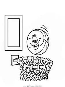 Basketbalkorb 2 gratis Malvorlage in Basketball Sport