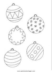 Malvorlage Weihnachtskugeln Malvorlagencr