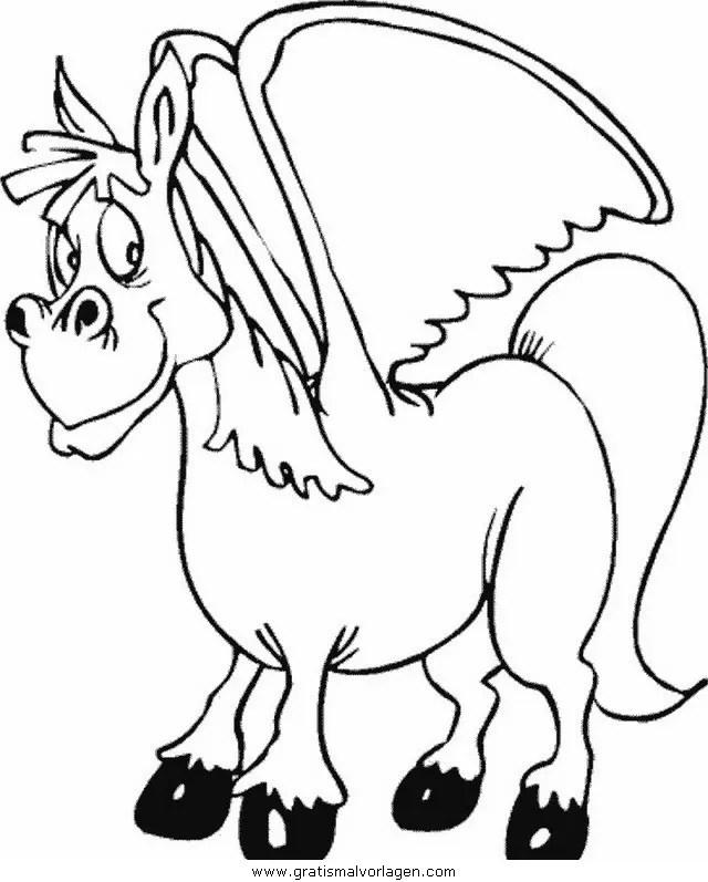 Pegasus 17 gratis Malvorlage in Fantasie Pegasus - ausmalen
