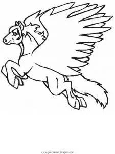 Pegasus 22 gratis Malvorlage in Fantasie Pegasus - ausmalen