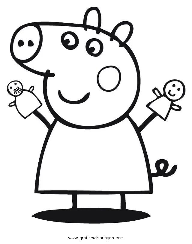 Peppa Pig Malvorlage