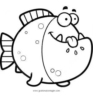 Piranha 3 gratis Malvorlage in Fische Tiere - ausmalen