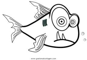 piranha 5 gratis Malvorlage in Fische, Tiere   ausmalen