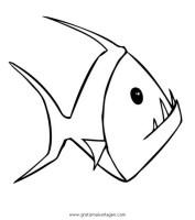 piranha 7 gratis Malvorlage in Fische, Tiere   ausmalen