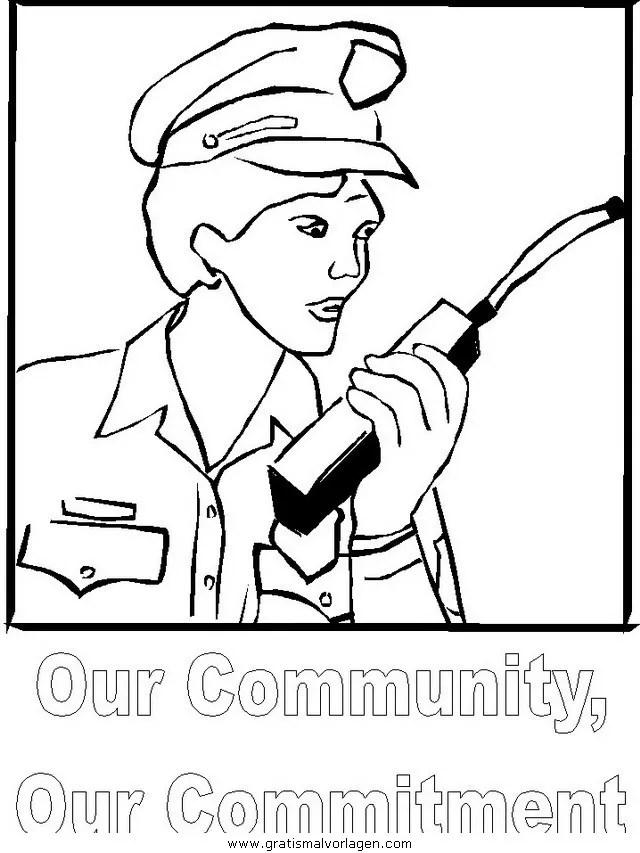 Polizei 04 gratis Malvorlage in Menschen Polizei - ausmalen