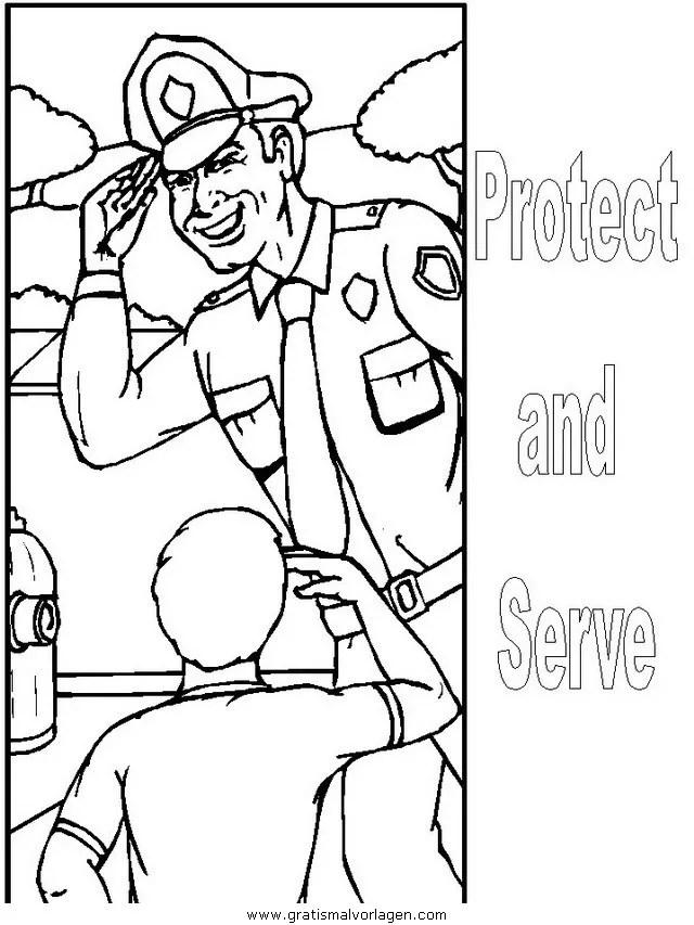 Polizei 06 gratis Malvorlage in Menschen Polizei - ausmalen