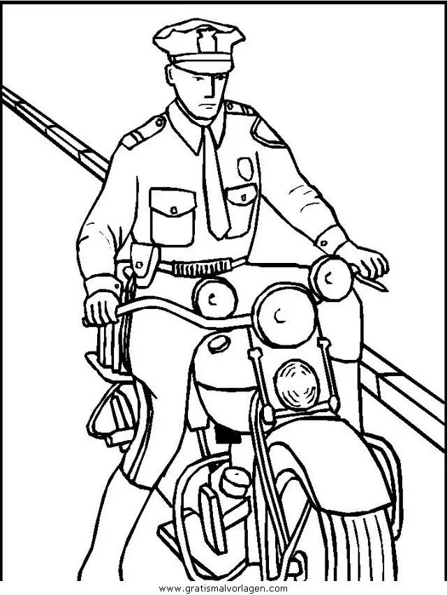 Polizei 07 gratis Malvorlage in Menschen Polizei - ausmalen