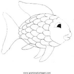 Malvorlage Regenbogenfisch
