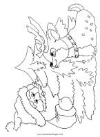 Ausmalbilder Weihnachten Rentier Rudolf