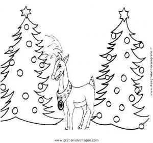 Rentier 54 gratis Malvorlage in Rentier Weihnachten