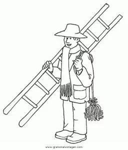 Schornsteinfeger 1 gratis Malvorlage in Berufe Handwerk