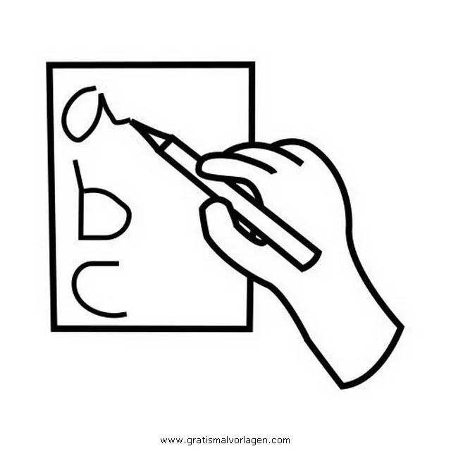 Schreiben gratis Malvorlage in Beliebt05 Diverse