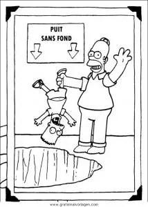 Malvorlage Bart Simpson