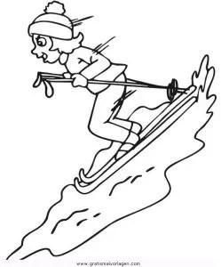 Ski 09 gratis Malvorlage in Ski Sport - ausmalen