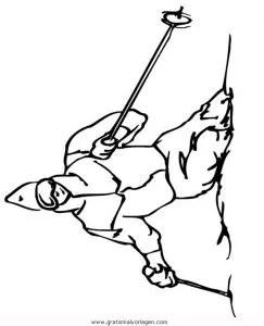 Ski 10 gratis Malvorlage in Ski Sport - ausmalen