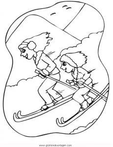 Ski 20 gratis Malvorlage in Ski Sport - ausmalen