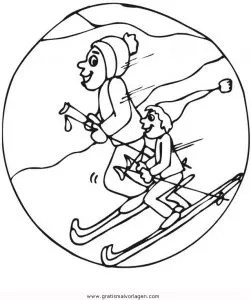 Ski 21 gratis Malvorlage in Ski Sport - ausmalen