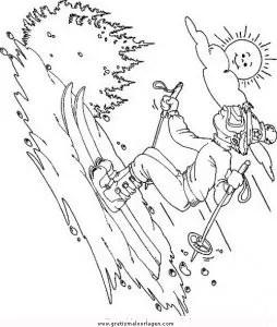 Snow board 15 gratis Malvorlage in Ski Sport - ausmalen