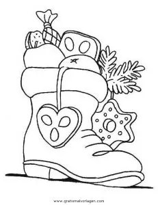 Socken dreikonigs 24 gratis Malvorlage in Socken