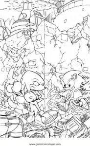 Sonic 15 gratis Malvorlage in Comic & Trickfilmfiguren
