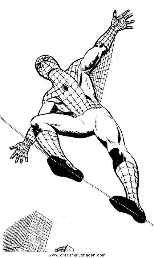 Spiderman 09 gratis Malvorlage in Comic & Trickfilmfiguren