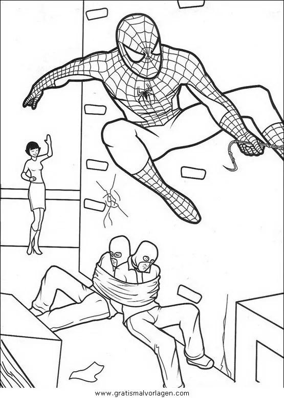 Spiderman 16 gratis Malvorlage in Comic & Trickfilmfiguren