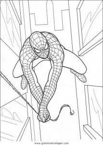 Spiderman 19 gratis Malvorlage in Comic & Trickfilmfiguren