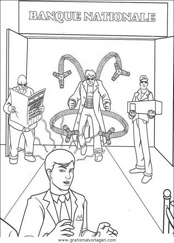 Spiderman 30 gratis Malvorlage in Comic & Trickfilmfiguren