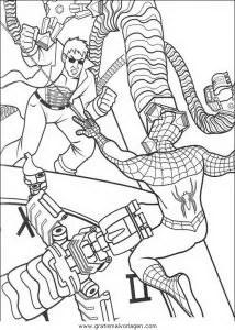 Spiderman 45 gratis Malvorlage in Comic & Trickfilmfiguren
