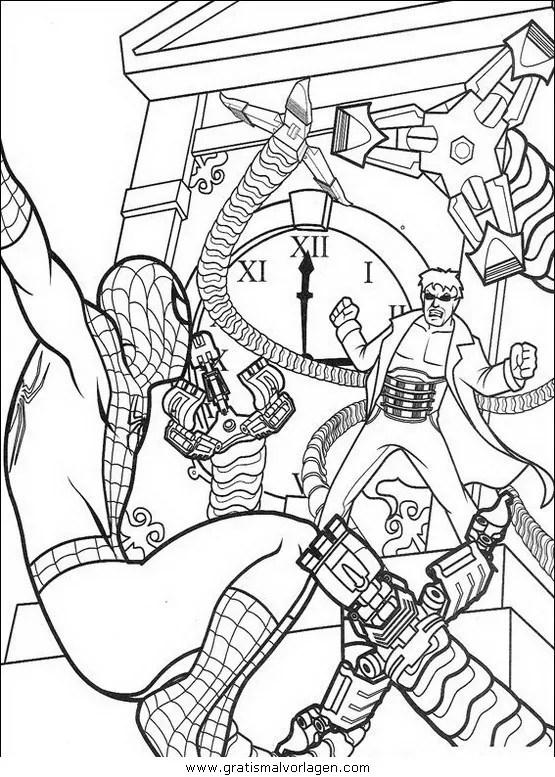 Spiderman 46 gratis Malvorlage in Comic & Trickfilmfiguren