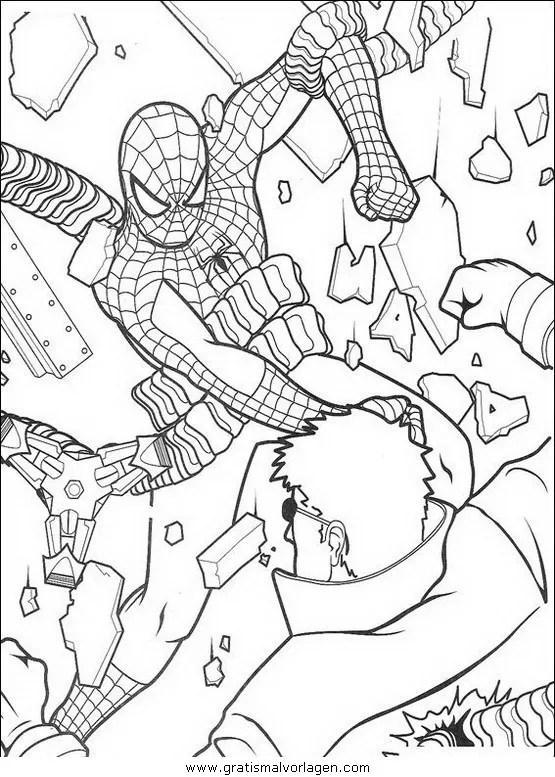 Spiderman 57 gratis Malvorlage in Comic & Trickfilmfiguren