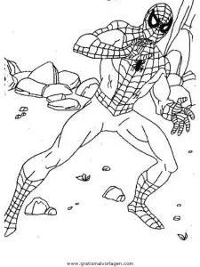 Spiderman 78 gratis Malvorlage in Comic & Trickfilmfiguren