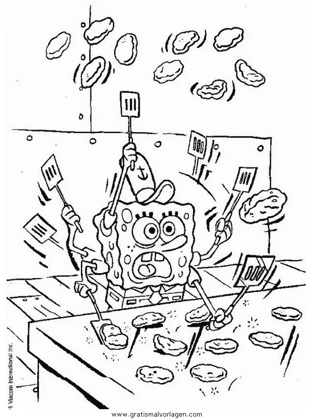 Spongebob 21 gratis Malvorlage in Comic & Trickfilmfiguren