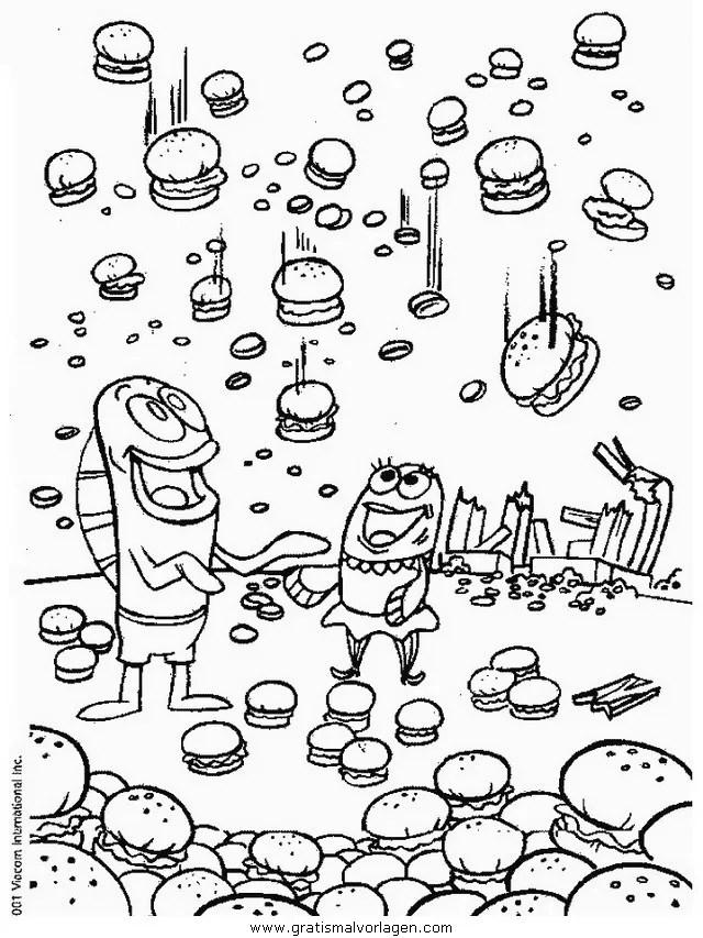 Spongebob 22 gratis Malvorlage in Comic & Trickfilmfiguren