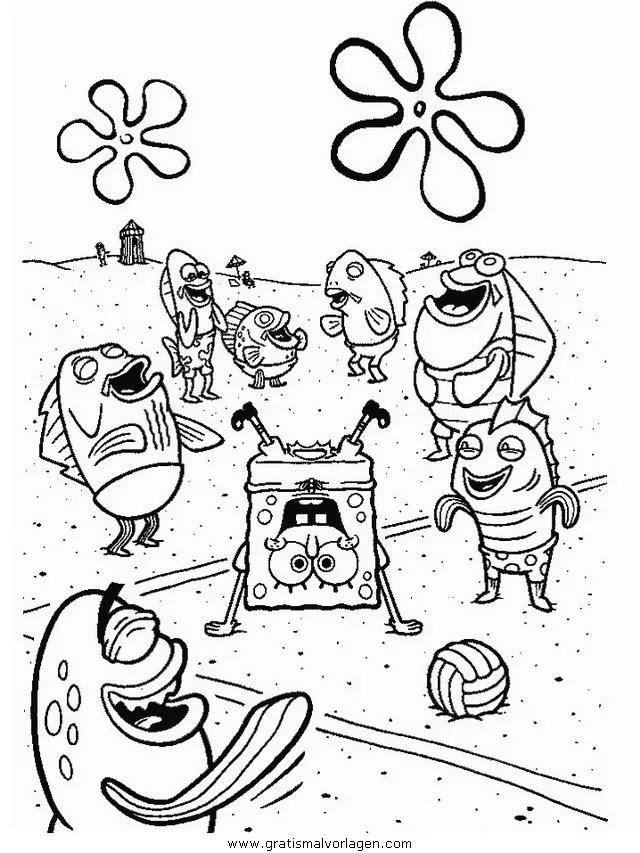 Spongebob 41 gratis Malvorlage in Comic & Trickfilmfiguren