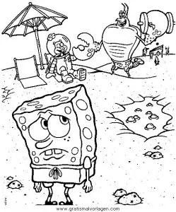 Spongebob 56 gratis Malvorlage in Comic & Trickfilmfiguren