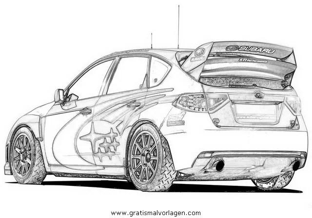 Subaru Impreza Rally Car Coloring Pages Sketch Coloring Page