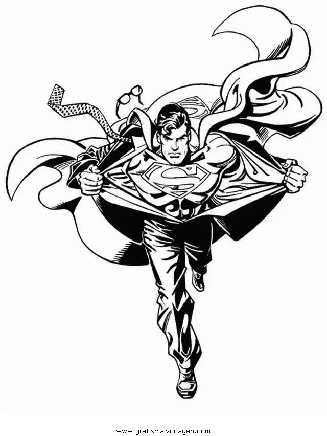 Superman 05 gratis Malvorlage in Comic & Trickfilmfiguren