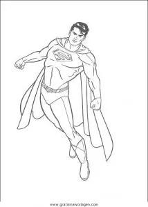 Superman 15 gratis Malvorlage in Comic & Trickfilmfiguren