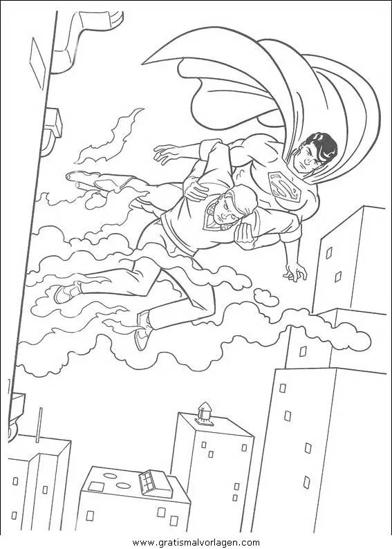 Superman 21 gratis Malvorlage in Comic & Trickfilmfiguren