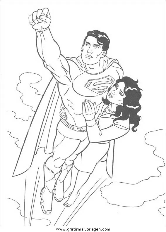 Superman Malvorlage