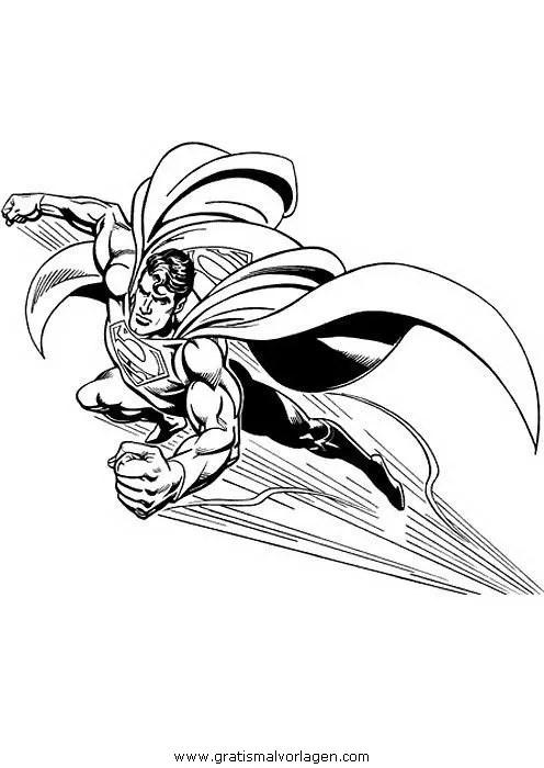 Superman 46 gratis Malvorlage in Comic & Trickfilmfiguren